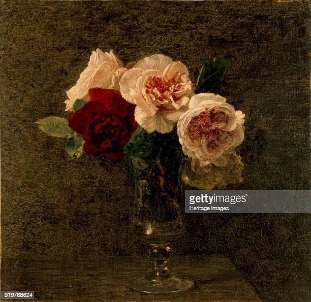 Still Life pink and red Roses 18861886 Artist Henri FantinLatour