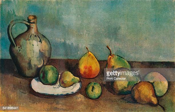 'Still life pitcher and fruit' 1894 From The Studio Volume 105 [The Offices of the Studio Ltd London 1933]Artist Paul Cezanne