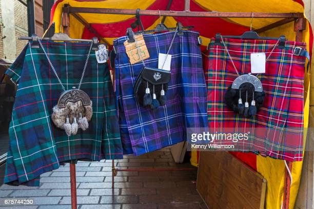 still life that makes you smile - kilt stock photos and pictures
