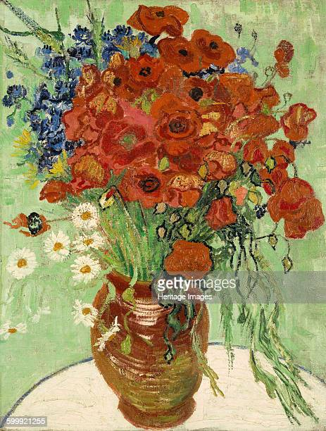 Still Life Vase with Daisies and Poppies 1890 Private Collection Artist Gogh Vincent van