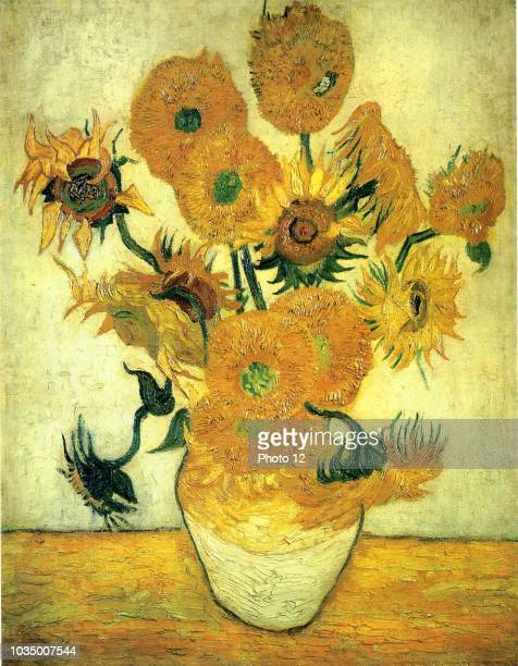 still life vase with fifteen sunflowers 1889 By Vincent Van Gogh Japan Sompo Art Museum