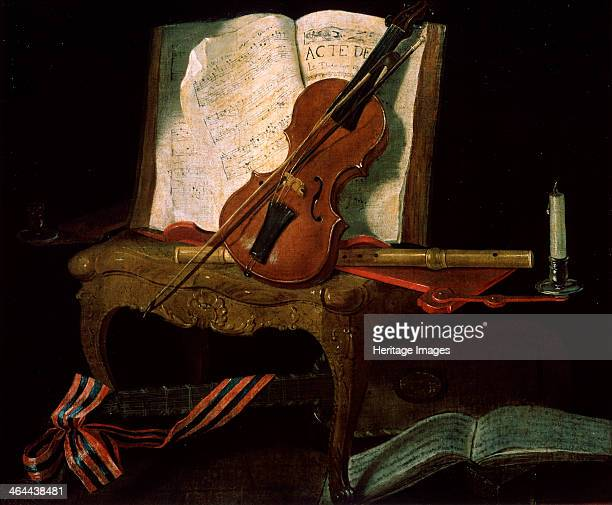 'Still Life with a Violin' 19th century Found in the collection of the M Kroshitsky Art Museum Sevastopol Ukraine