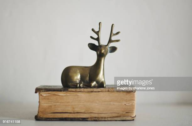 Still Life with Brass Deer and Book