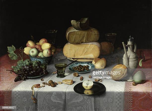 Still Life with Cheese c 1615 Found in the collection of Rijksmuseum Amsterdam Artist Dyck Floris Claesz van