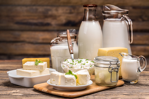 Still life with dairy product 513470606