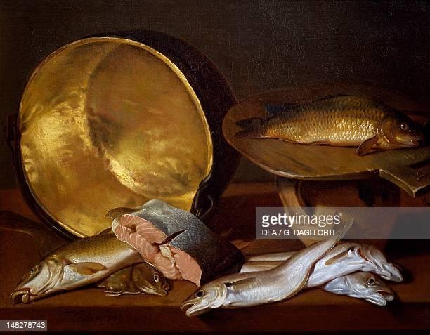 Still life with fishes by Francois Mather Nantes Musée Des BeauxArts De Nantes