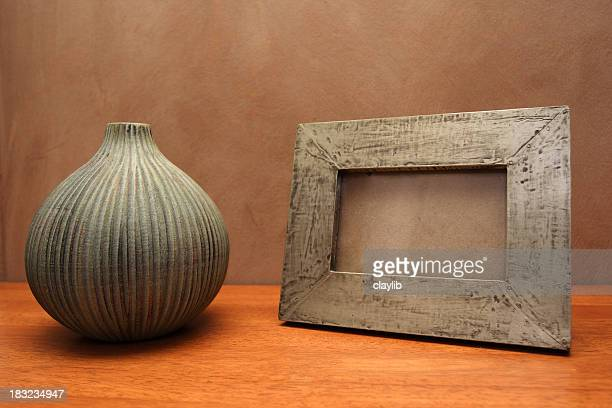 still life with frame and center clipping path