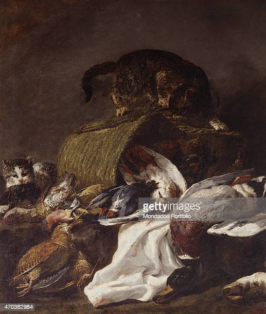 Still life with Game by Jan Fyt 1640 1655 17th century oil on canvas Italy Lombardy Milan Brera Collection Whole artwork view Still life with dead...