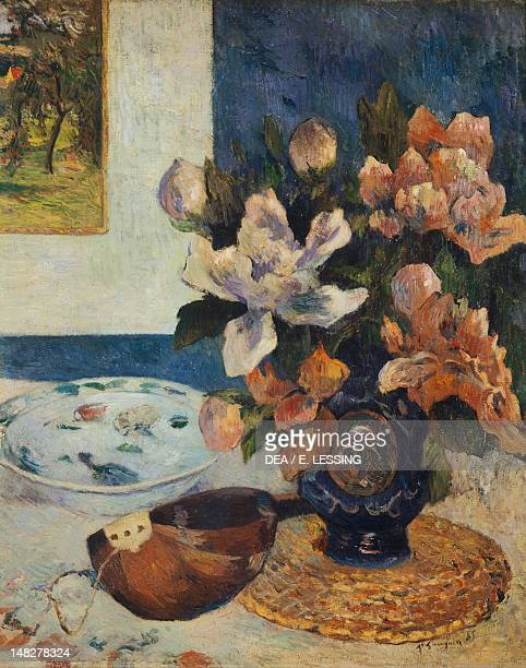 Still Life with Mandolin by Paul Gauguin oil on canvas Paris Musée D'Orsay