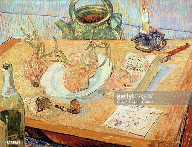 Still life with onions by Vincent van Gogh Otterlo Rijksmuseum KrollerMuller