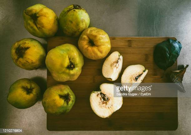 still life with quince - sandra gygax stock-fotos und bilder