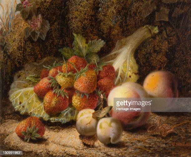 Still Life With Strawberries, 1916. Artist Oliver Clare. .