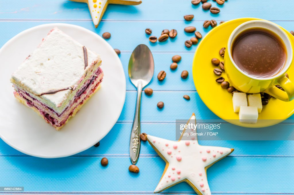 Still life with sweets and coffee : Stock Photo