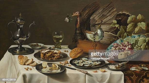 Still Life with Turkey Pie 1627 Found in the collection of the Rijksmuseum Amsterdam