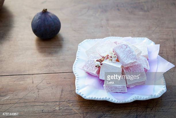 Still life with turkish delight