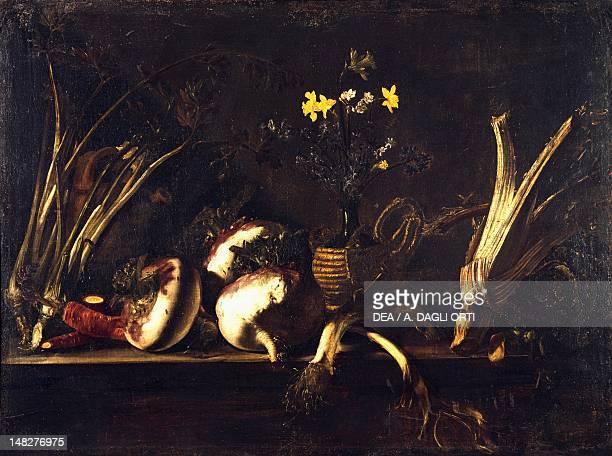 Still life with vegetables by Giovan Battista Ruoppolo Naples Museo Nazionale Di Capodimonte
