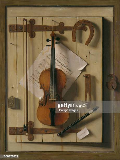 Still Life?Violin and Music, 1888. Artist William Michael Harnett.