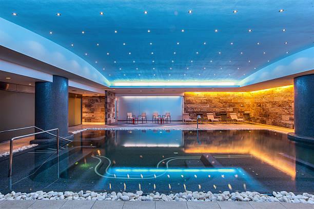 Still modern indoor pool