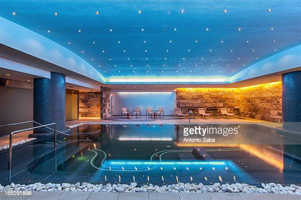 Still modern indoor pool
