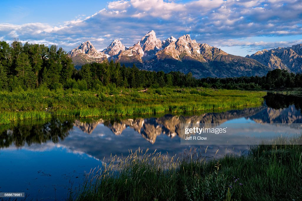 Still Morning in the Tetons : Stock Photo