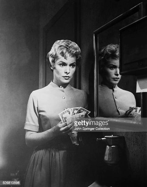 """Still of Janet Leigh from the Alfred Hitchcock film """"Pscho."""""""