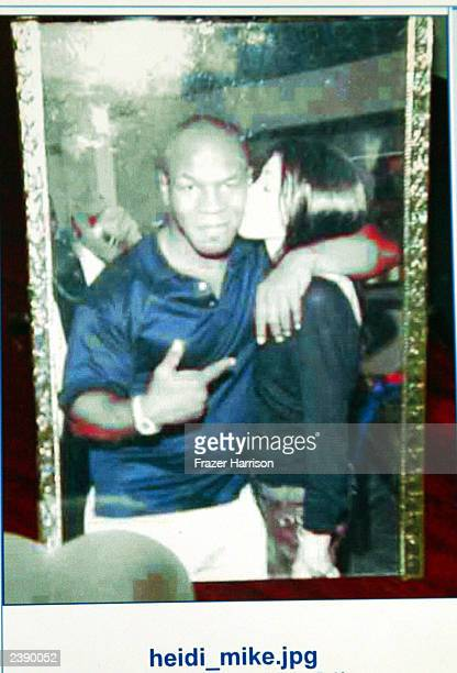 Still photograph of Heidi Fleiss former girlfriend of Tom Sizemore with boxer Mike Tyson which was used in evidence during the trial of Tom Sizemore...