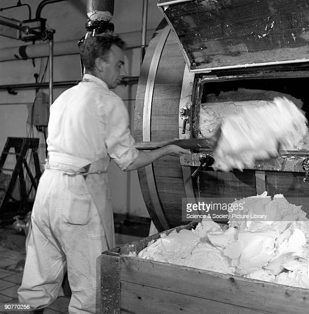 Still photograph taken during the making of the British Transport Films production �Speedup�