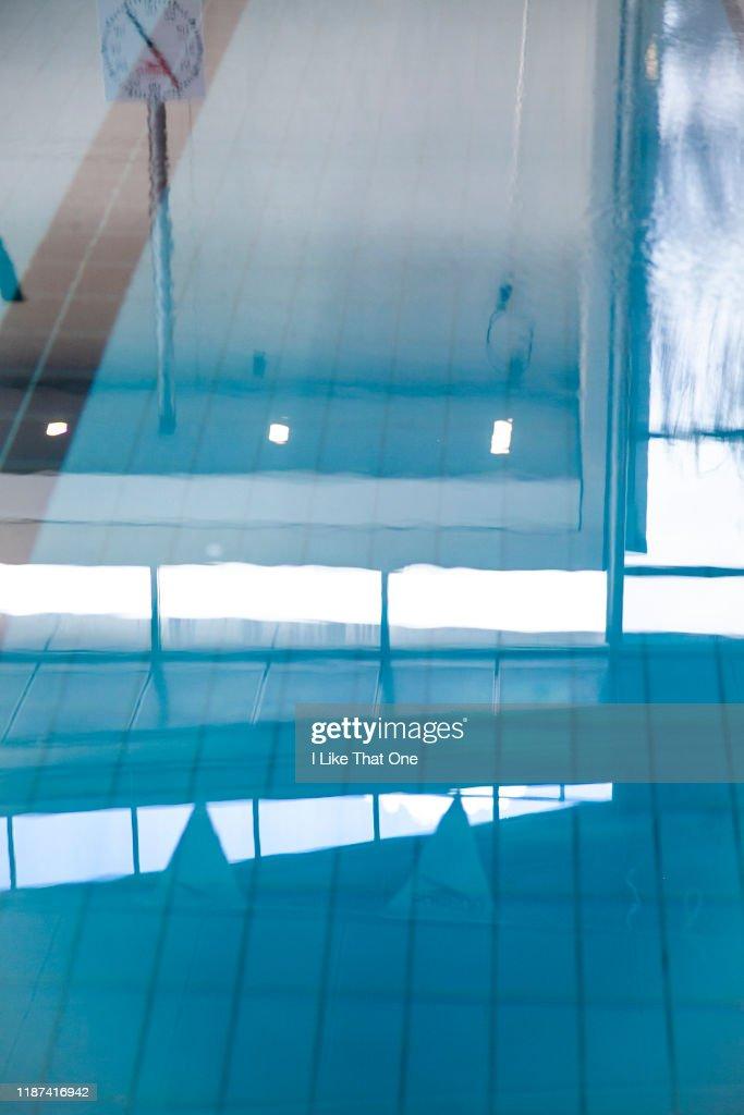 Still Swimming Pool Surface : Stock Photo
