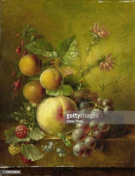 Stilleven met vruchten, Willem Hekking , 1830 - 1862
