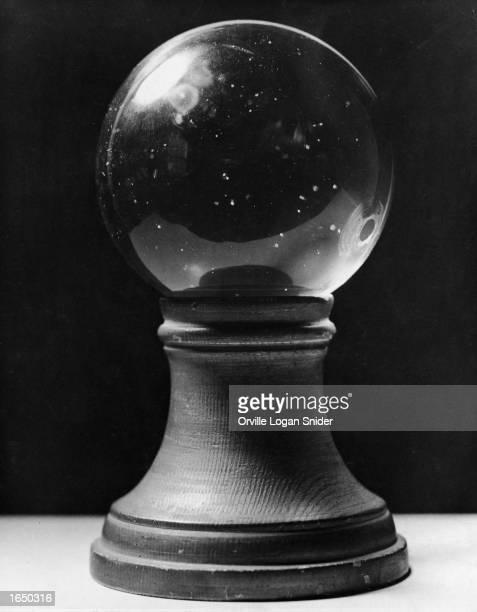 Stilllife closeup of a crystal ball undated