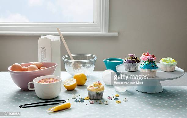 stilllife of baking cakes.