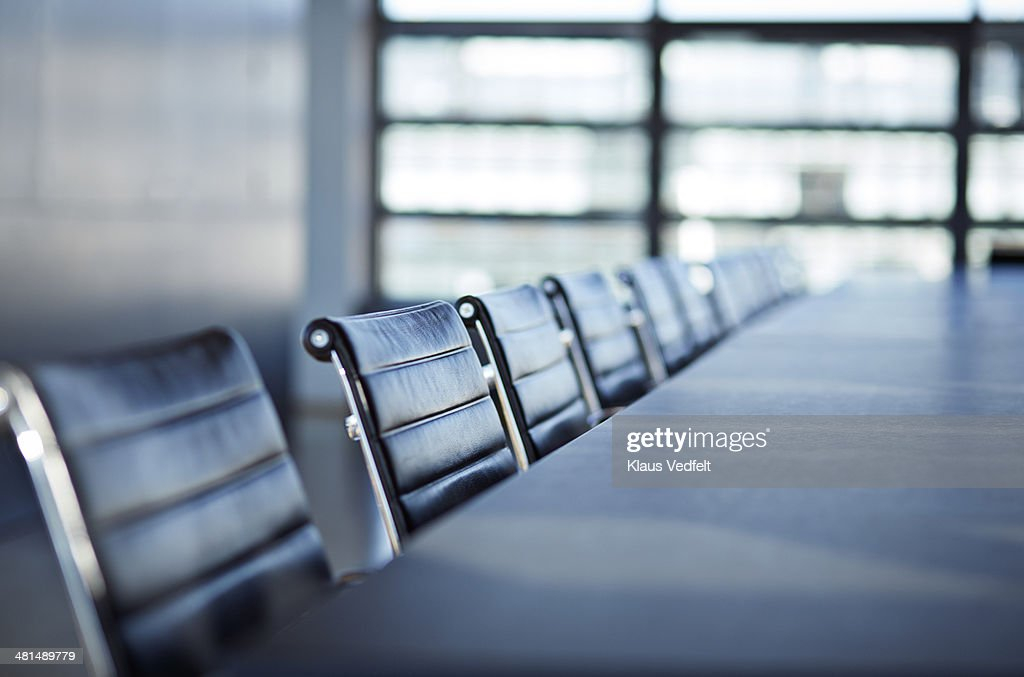 Still-life of chairs in big stylish conferenceroom : Stock Photo