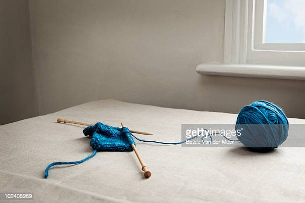 stilllife of knitting.