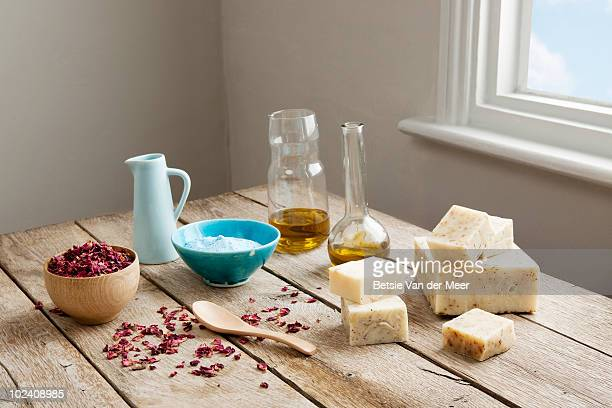 stilllife of soap-making. - preparation stock pictures, royalty-free photos & images