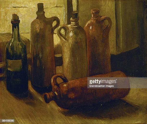 Stilllife with bottles Oil on canvas [Stillleben mit Flaschen Gemaelde]