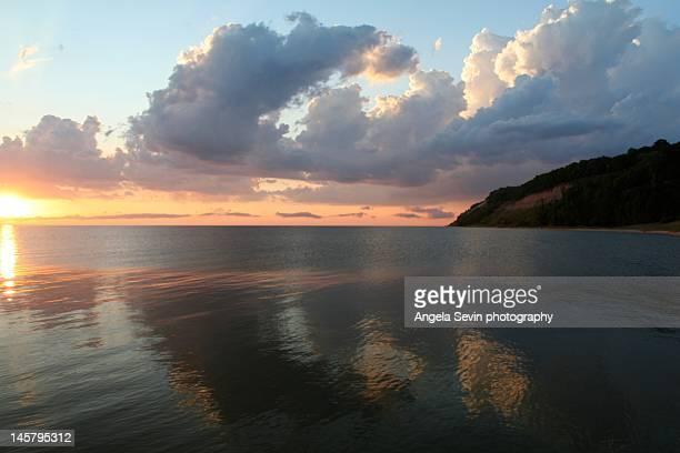 Stillness on lake Michigan