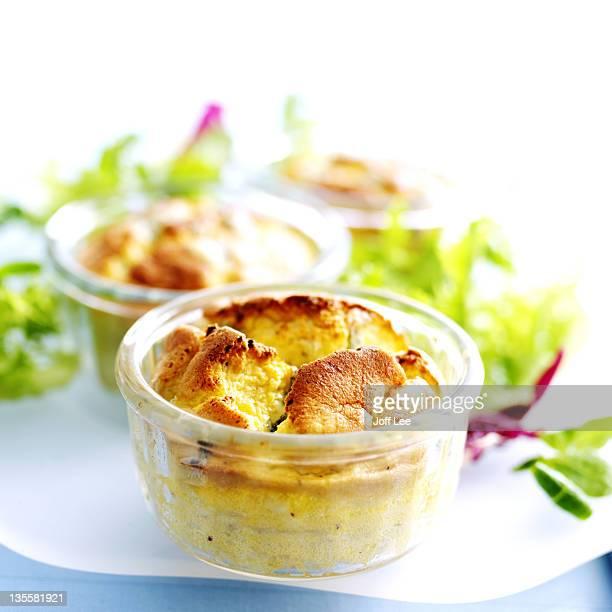 stilton cheese souffle - soufflé stock-fotos und bilder