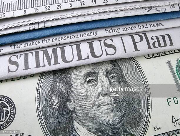 stimulus plan headline - economic stimulus stock pictures, royalty-free photos & images
