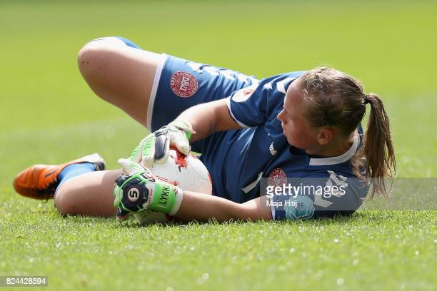 Stina Lykke Petersen of Denmark in action during the UEFA Women's Euro 2017 Quarter Final match between Germany and Denmark at Sparta Stadion on July...
