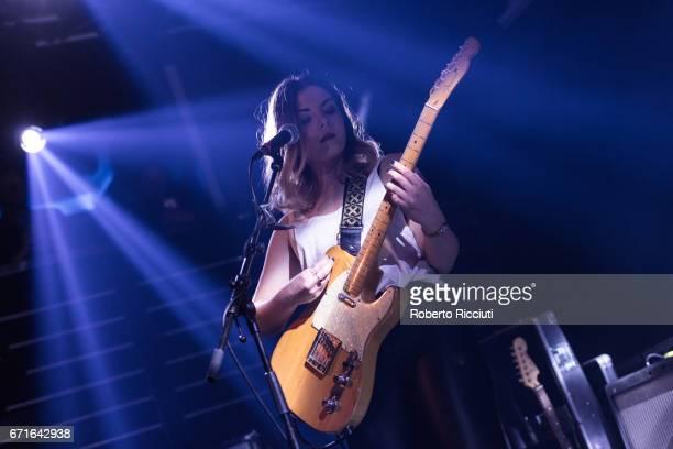 Stina Marie Claire Tweeddale of Honeyblood performs on stage at The Liquid Room on April 22, 2017 in Edinburgh, United Kingdom.