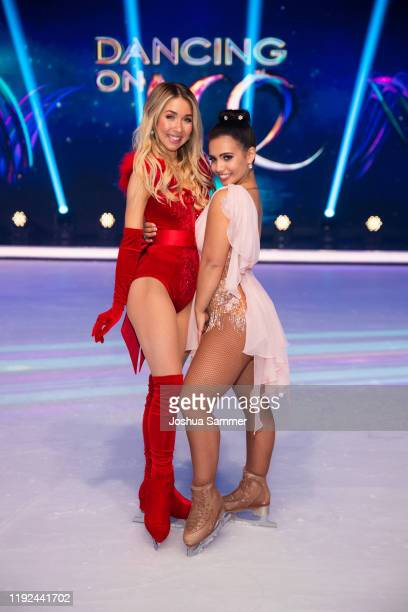 Stina Martini and Amani Fancy pose during the 5th show of the TVSeries Dancing on Ice on December 06 2019 in Cologne Germany