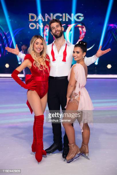 Stina Martini Andre Hamann and Amani Fancy pose during the 5th show of the TVSeries Dancing on Ice on December 06 2019 in Cologne Germany