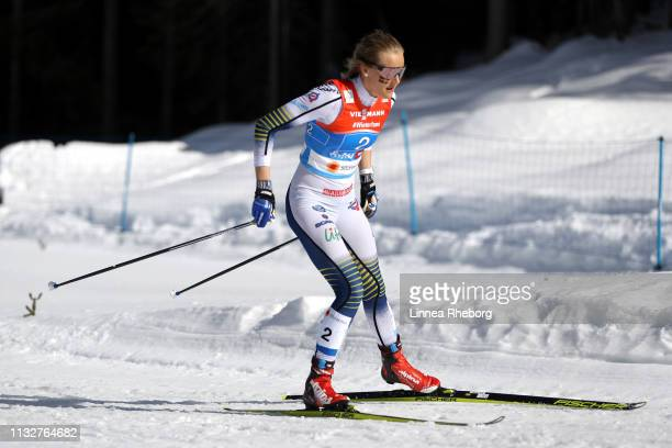 Stina Nilsson of Sweden during the Women's 4xCross Country Relay at the FIS Nordic World Ski Championships on February 28 2019 in Seefeld Austria