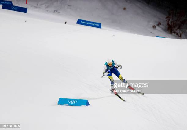 Stina Nilsson of Sweden during the Womens Individual Sprint Classic Finals on day four of the PyeongChang 2018 Winter Olympic Games at Alpensia...