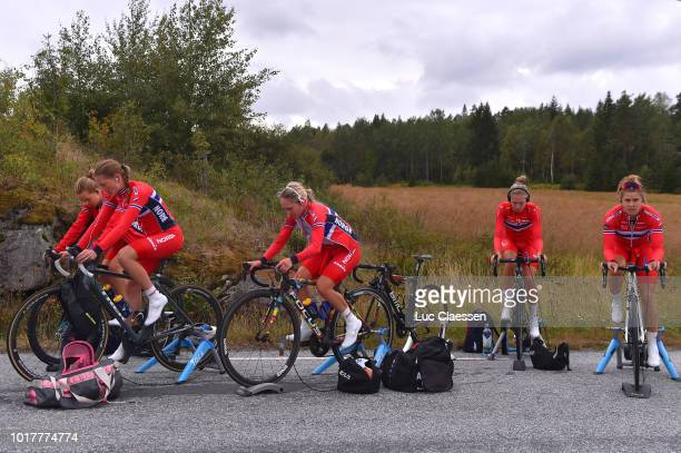 Stine Anderson Borgli of Norway / Caroline Thorvik Olsen of Norway / Birgitte Ravndal of Norway / Karina Birkenes of Norway / Ingrid Moe of Norway /...