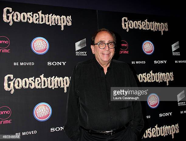 L Stine attends the Goosebumps New York Premiere at AMC Empire 25 theater on October 12 2015 in New York City