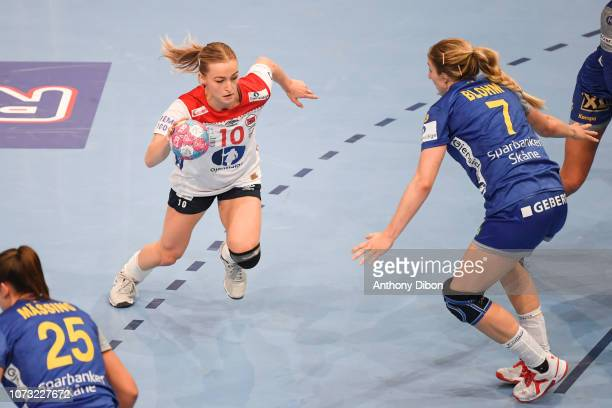 Stine Oftedal of Norway during the EHF Euro match between Sweden and Norway on December 14 2018 in Paris France