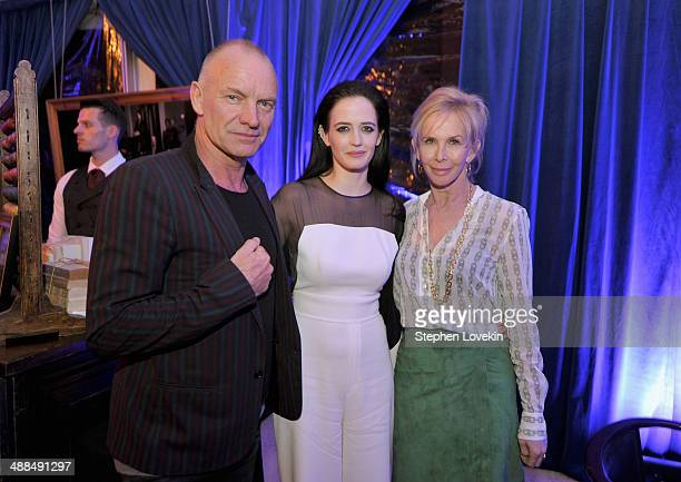 Sting actress Eva Green and Trudie Styler attend Showtime's PENNY DREADFUL world premiere at The High Line Hotel on May 6 2014 in New York City