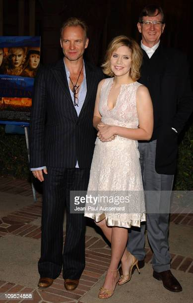 Sting Alison Krauss and T Bone Burnett during The Words and Music of Cold Mountain at Royce Hall in Westwood California United States