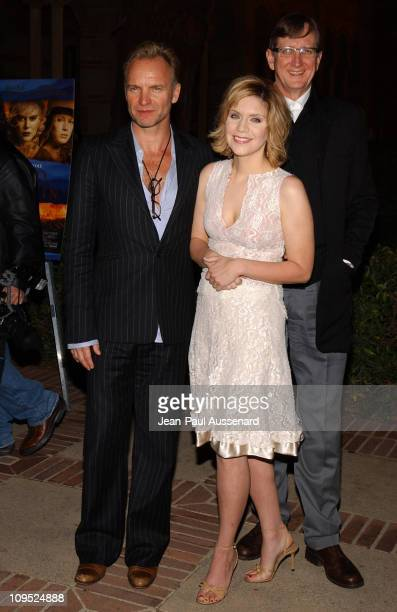 Sting Alison Krauss and T Bone Burnett during The Words and Music of 'Cold Mountain' at Royce Hall in Westwood California United States